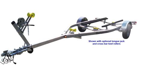 small boat trailer rollers single axle bunk boat trailers tidewater trailers