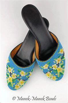 flat shoes bunga putih colourful beaded mules like my use to wear the