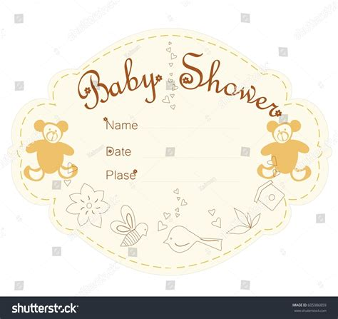 templates for baby shower in vector from stock 25 eps baby shower invitations template card baby stock vector