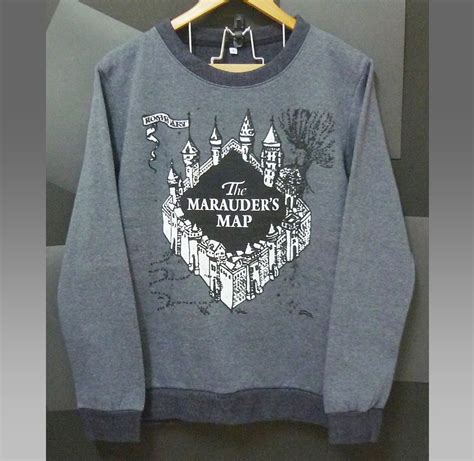 Sweater Anak Harry Potter Bungsu Clothing the marauder s map shirt harry potter sweater castle winter jumper sweaters clothing sleeve