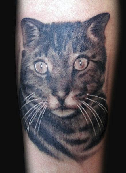 cat tattoo black and grey cat portrait tattoo tattoos