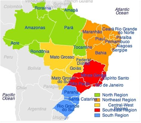 map of brazil with states states of brazil solar cooking fandom powered by wikia