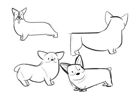 corgi drawing sketch coloring page