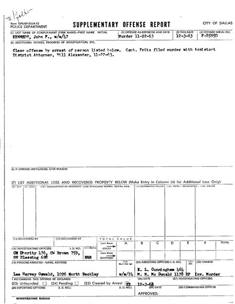 arrest report sle arrest report template 28 images report template