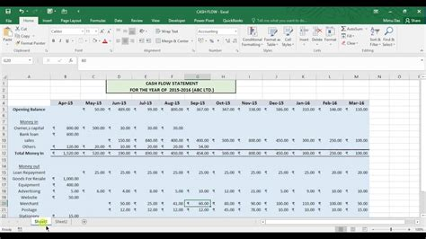 cash flow statement template excel free oyle kalakaari co