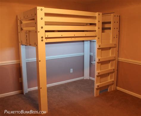 bunk bed with loft twin loft bed plan palmetto bunk beds
