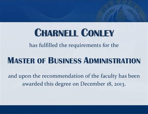 Clark Mba Requirements by Master S Graduates Herzing December 2013