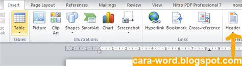 cara membuat header kop surat di word cara membuat kop surat di word cara word