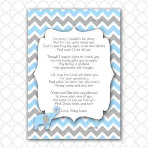 Baby Shower Poem For Boy by Baby Shower Thank You Poems Elephant Baby Shower Thank