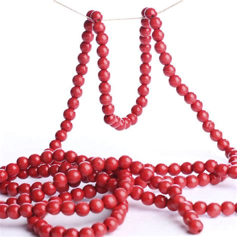 cranberry red bead garland christmas garlands