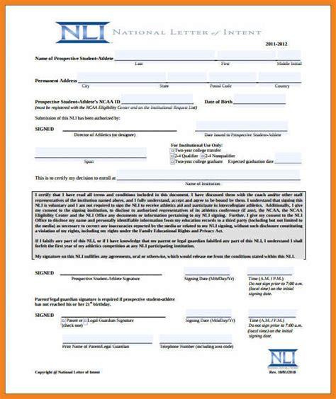 ncaa letter of intent teller resume sle