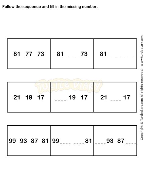 number pattern activities pinterest number sequence worksheet 7 math worksheets