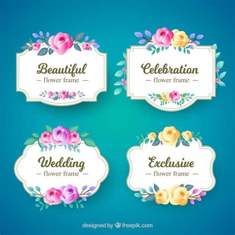 cornici floreali gratis cornici floreali con colorate scaricare vettori gratis