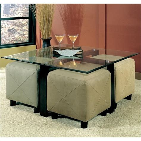 Glass Coffee Table With Ottomans Coaster Cermak Contemporary Square Black Metal Base Glass Top Cocktail Table 700026