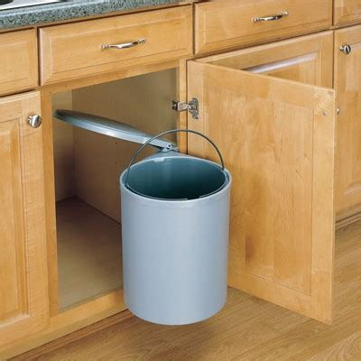 In Cupboard Bins by Garbage Disposal How To Fix A Pedal Bin Into A Kitchen