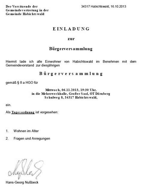 Einladung Informationsveranstaltung Muster 17 01 2014 In Der Ausgabe 10 2014 Wurde Im Bund