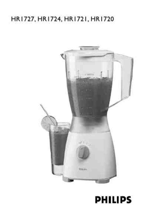 Blender Manual Blender Manual philips hr1720 50 blender mixer manual for free