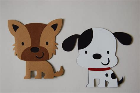 paper a puppy items similar to paper cutout set puppy pals on etsy