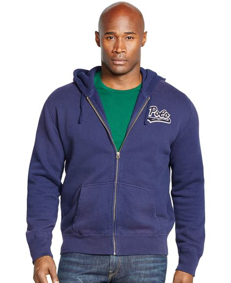 Polos Zip Hoodie lyst polo ralph big and fleece zip hoodie in blue for