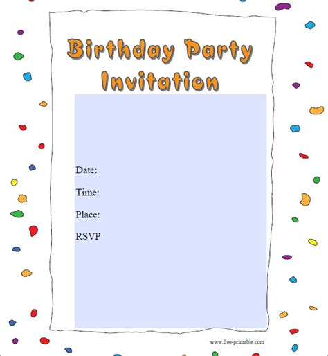 free birthday invitation pdf 50 printable birthday invitation templates sle templates