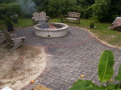 Backyard Sted Concrete Patio Ideas How To Relevel A Brick Patio