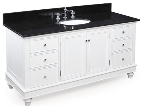 Black And White Bathroom Vanity 60 In Single Sink Bath Vanity Black White Transitional Bathroom Vanities And Sink