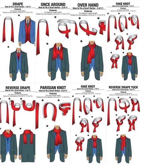 8 Cool Ways To Wear A Scarf by How To Tie A Scarf For In 11 Different Ways To Tie