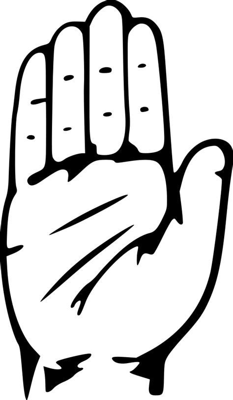 OnlineLabels Clip Art - Hand Congress Symbol