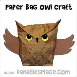 Paper Craft Owl - 290 best paper bag crafts images on paper