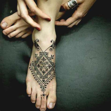 pattern ankle tattoo 45 noteworthy foot tattoos amazing tattoo ideas