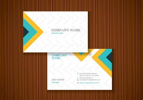 name card design template vector free colorful stylish business card template design