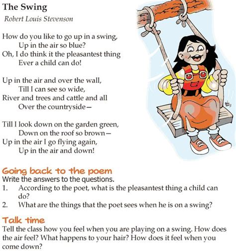 poem swing grade 4 reading lesson 10 poetry the swing 1 poetry