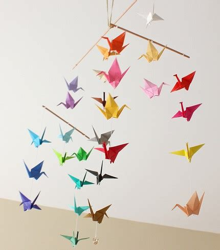 Mobile Origami - juneberry tutorial tuesday origami crane magic