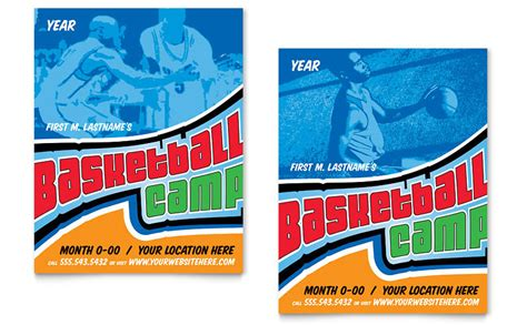 Basketball Sports Camp Poster Template   Word & Publisher
