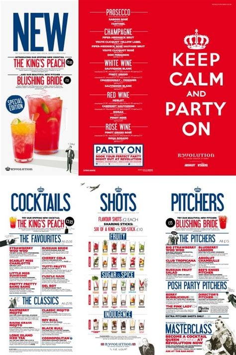 cocktail menu for 50 keep calm cocktail menu typography vintage illustrations