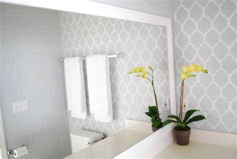 bathroom wall stencil ideas moroccan wall stencil contemporary bathroom valspar