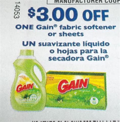 printable gain coupons living laughing saving saving gain fabric softener