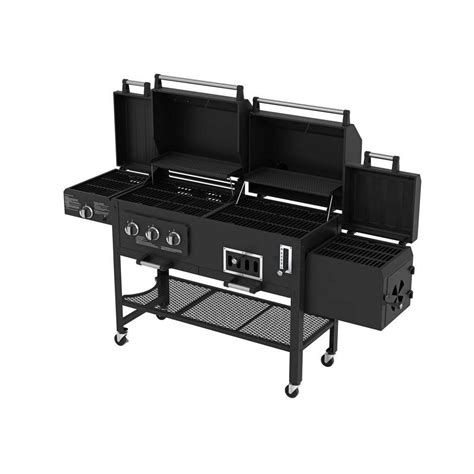 backyard grill gas charcoal combination grill gas charcoal smoker 3 in 1combo combination hybird
