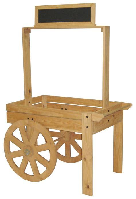 vendor cart wood vendor cart chalk board header wooden wheels