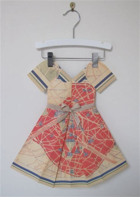 Folded Paper Dress - picture dressed in paper