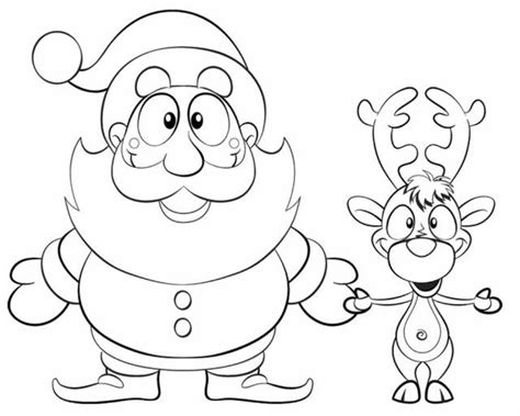 coloring pages of santa s 9 reindeer santa and reindeer coloring page az coloring pages