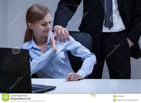 sexual harassment in the office stock photo image 43755569