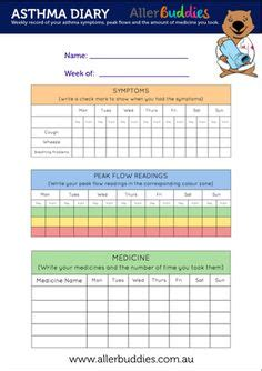 Printable Peak Flow Chart Using The My Peak Flow Diary Or The My Peak Flow Report Places To Asthma Diary Template