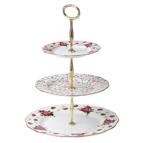 etagere porzellan vintage royal albert new country roses tiered cake stand