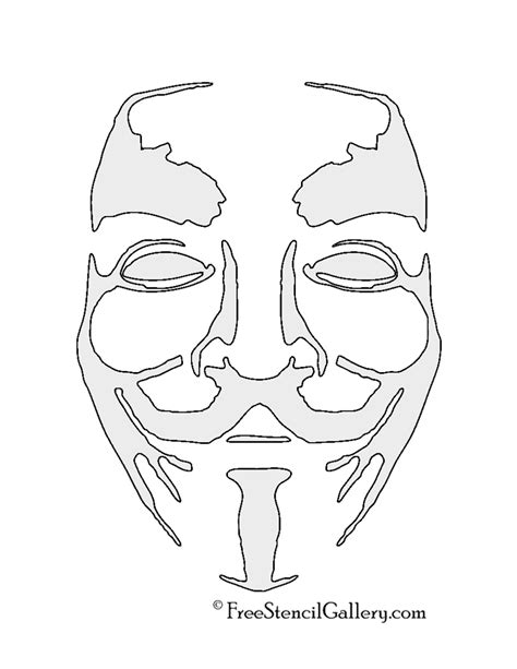 printable anonymous mask anonymous guy fawkes mask stencil geek head collection