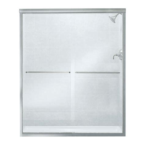 Sterling Finesse 59 5 8 In X 70 1 16 In Frameless Clear Glass Shower Door
