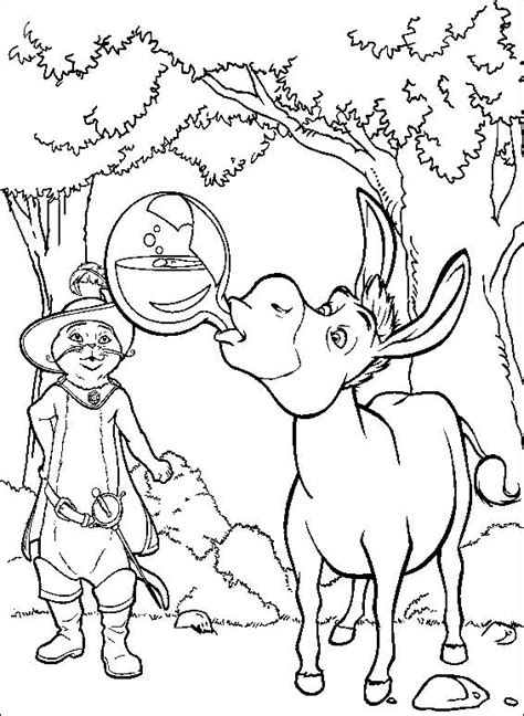 free coloring pages of shrek 2