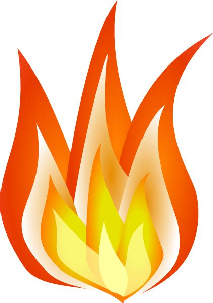 flames clipart shaded flames clip at clker vector clip