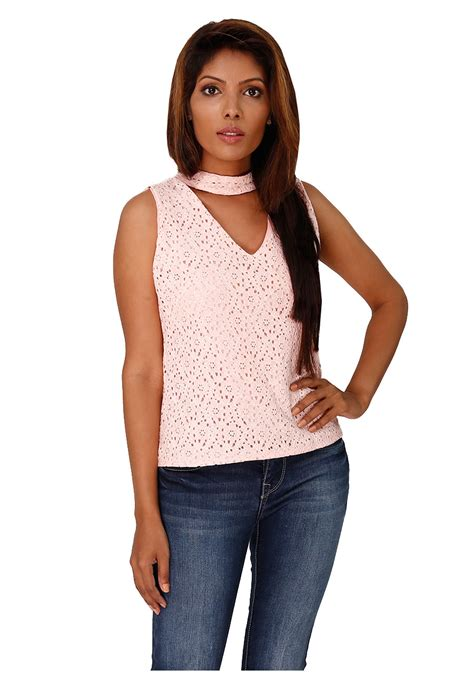 Top Blouse cutout choker top shop blouses tops ikon