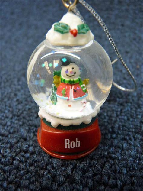 ganz personalized name snowman snow globe ornament r